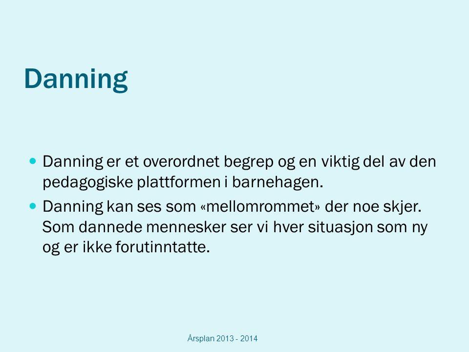 Danning Danning er et overordnet begrep og en viktig del av den pedagogiske plattformen i barnehagen.
