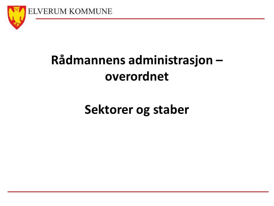 Rådmannens administrasjon – overordnet Sektorer og staber
