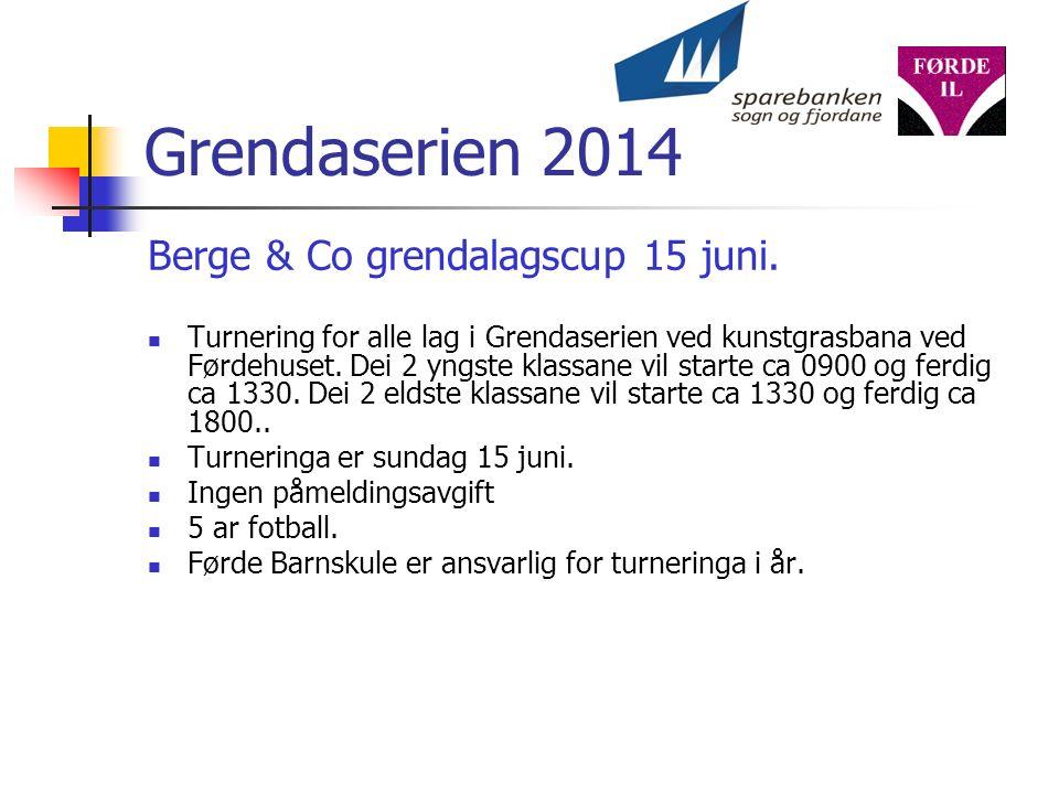 Grendaserien 2014 Berge & Co grendalagscup 15 juni.
