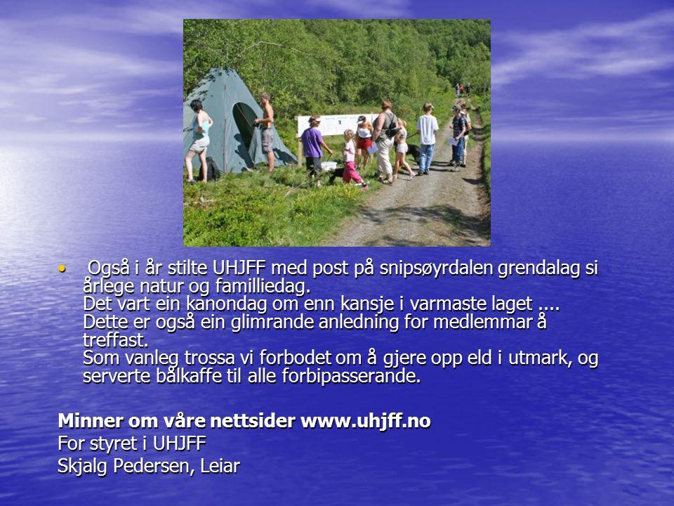 ÅRSMELDING FOR UHJFF, 2007 STUDIESEKRETÆREN.