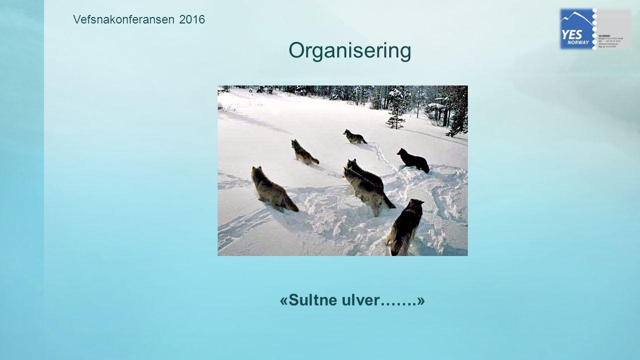 Vefsnakonferansen 2016 Organisering «Sultne ulver…….»