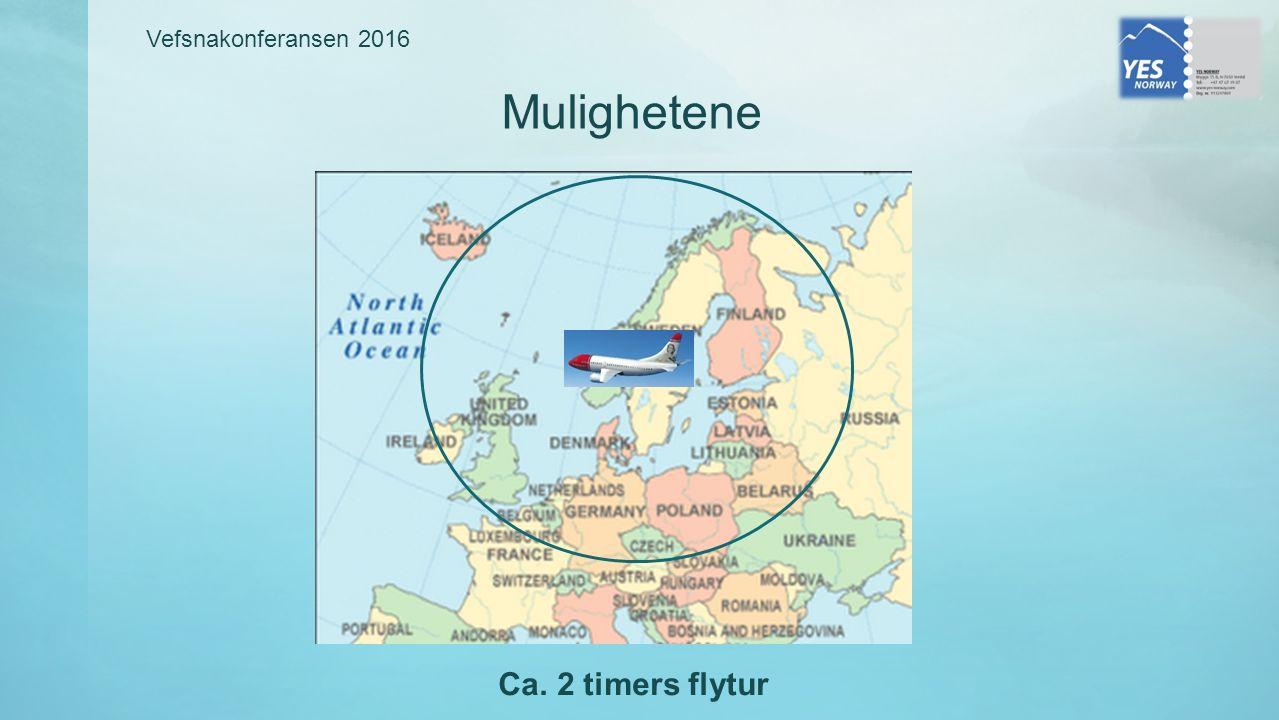 Vefsnakonferansen 2016 Mulighetene Ca. 2 timers flytur