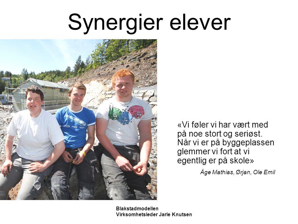 Synergier elever «Vi føler vi har vært med på noe stort og seriøst.