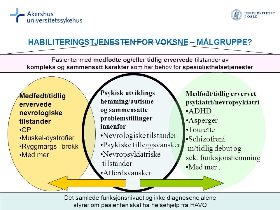 HABILITERINGSTJENESTEN FOR VOKSNE – MÅLGRUPPE.