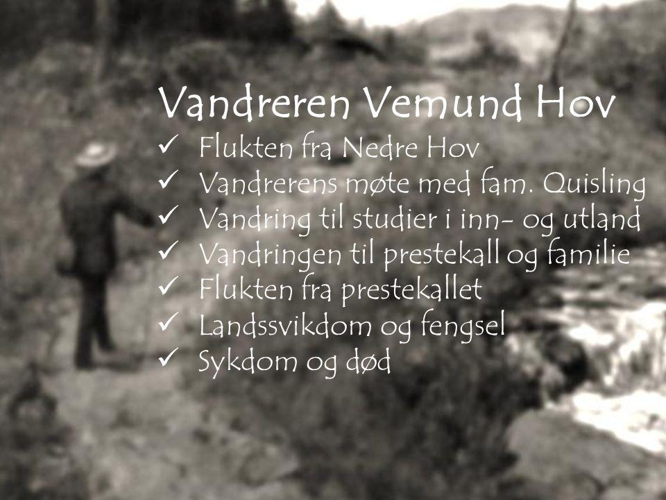 Flukten fra Nedre Hov Vandrerens møte med fam.