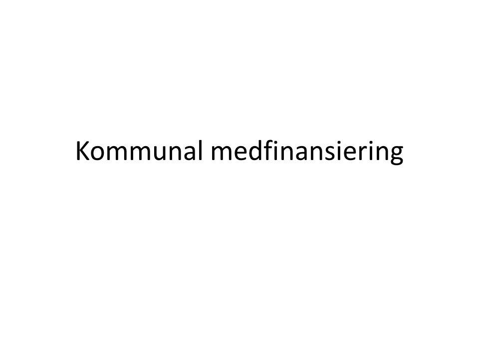Kommunal medfinansiering