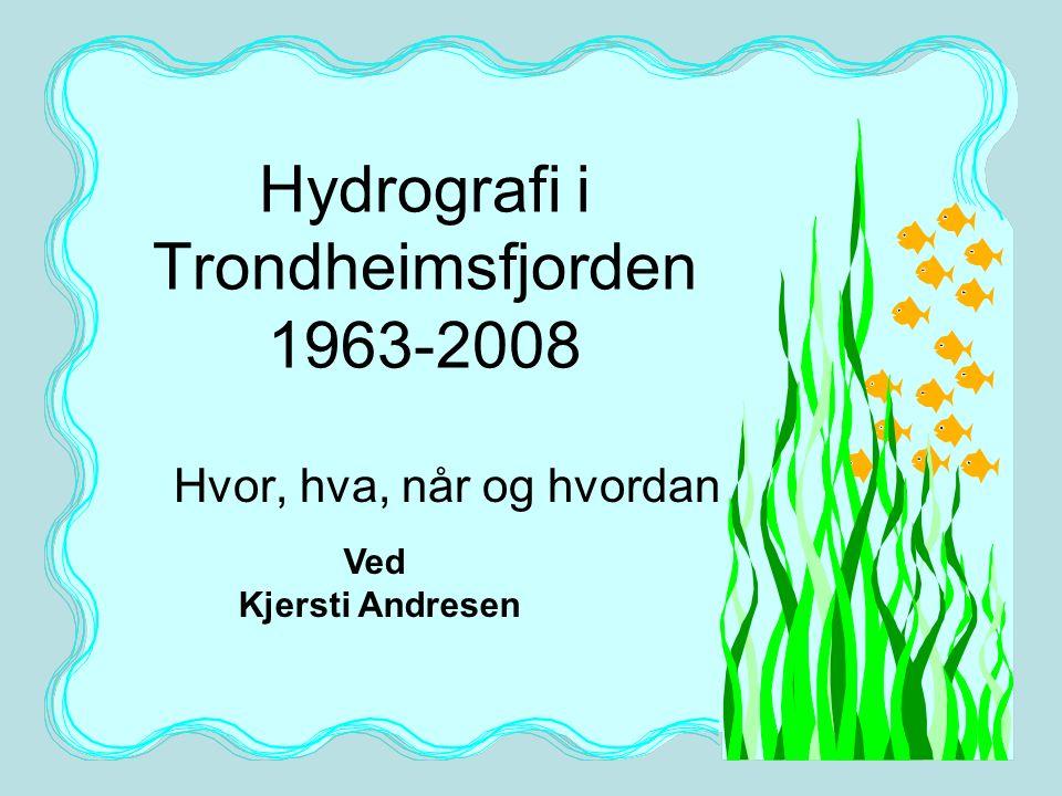15 TBS, NTNU NMD 2009 Faglig hovedansvarlig for måleserien Trondheimsfjorden var i mange år 1.