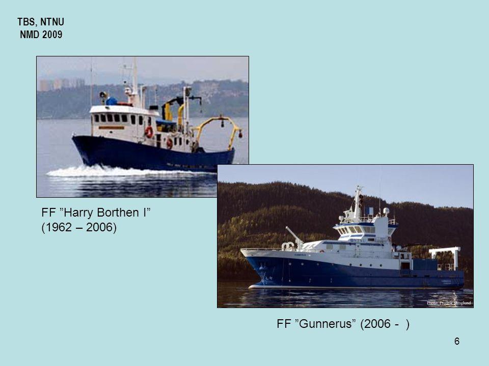 5 TBS, NTNU NMD 2009 Det generelle strømsystemet i ytre Trondheimsfjord Fløende sjø Fellende sjø