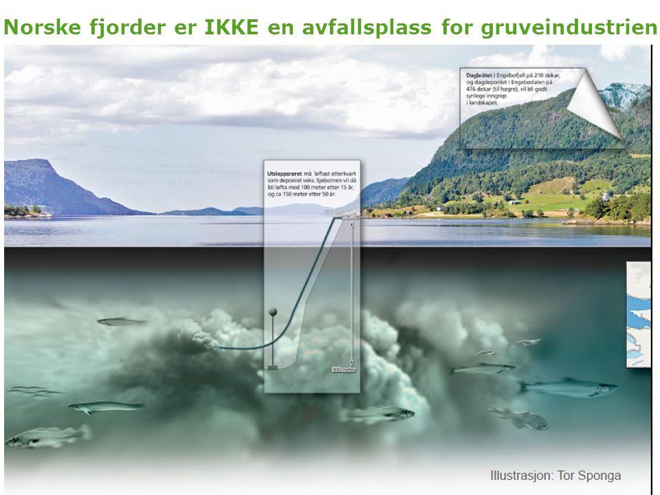Norske fjorder er IKKE en avfallsplass for gruveindustrien