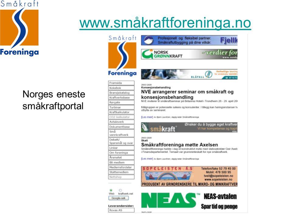 Norges eneste småkraftportal