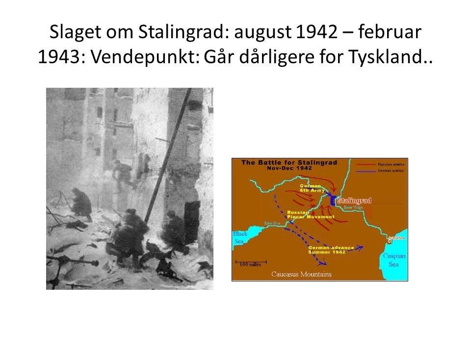 Slaget om Stalingrad: august 1942 – februar 1943: Vendepunkt: Går dårligere for Tyskland..