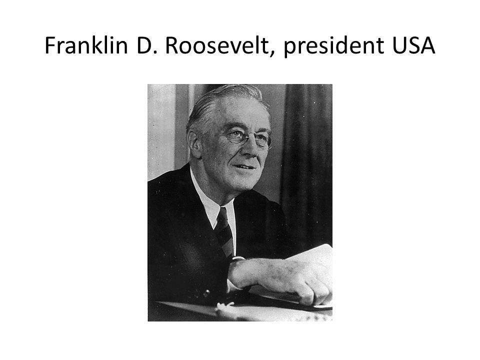 Franklin D. Roosevelt, president USA