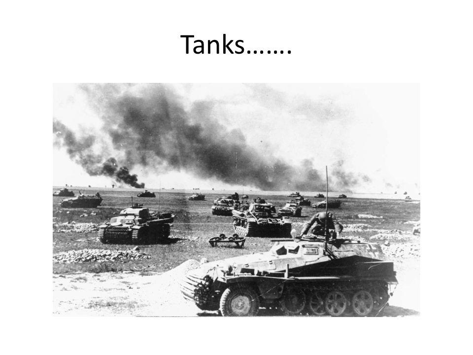 Tanks…….