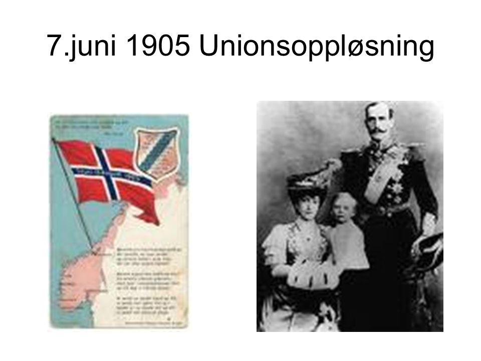 7.juni 1905 Unionsoppløsning