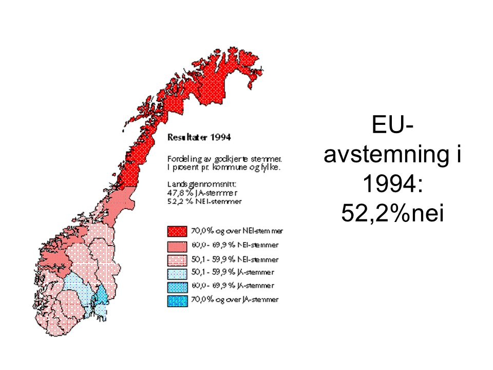 EU- avstemning i 1994: 52,2%nei