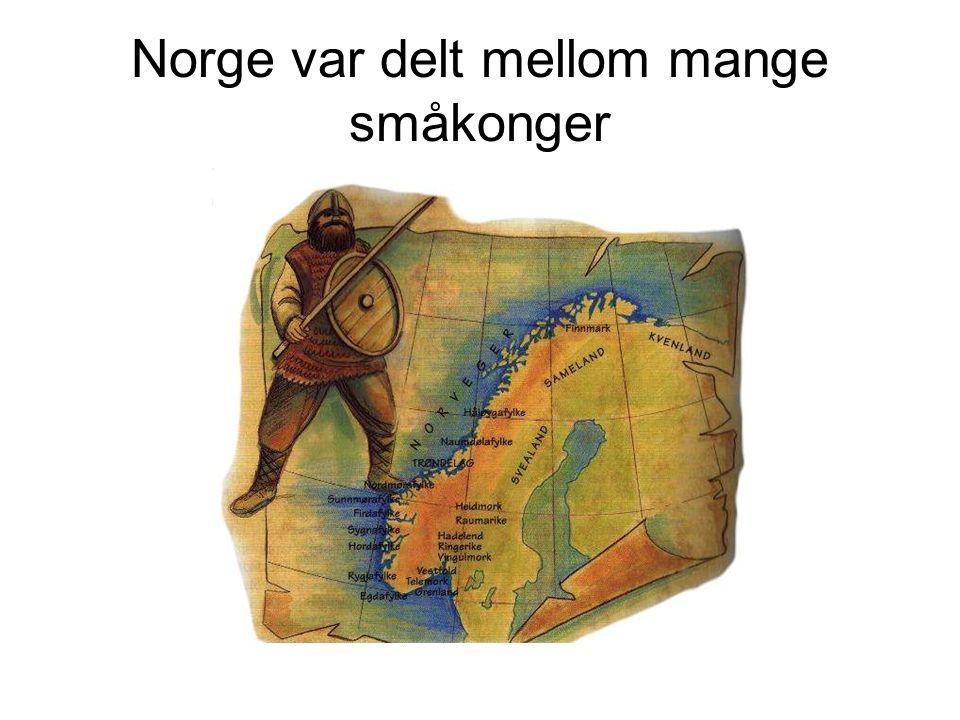 Norge var delt mellom mange småkonger