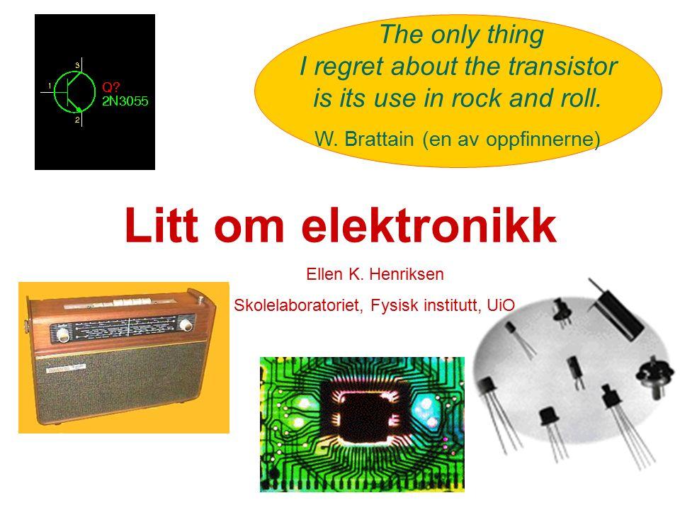 Elektronikk i læreplanen Etter 10.