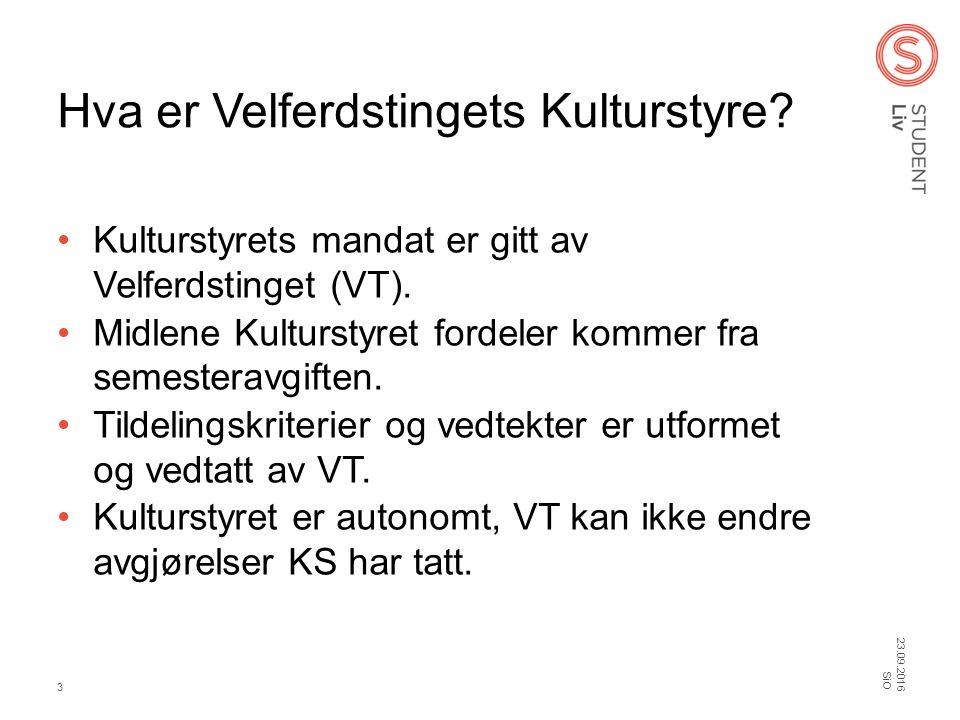 Hva er Velferdstingets Kulturstyre. Kulturstyrets mandat er gitt av Velferdstinget (VT).