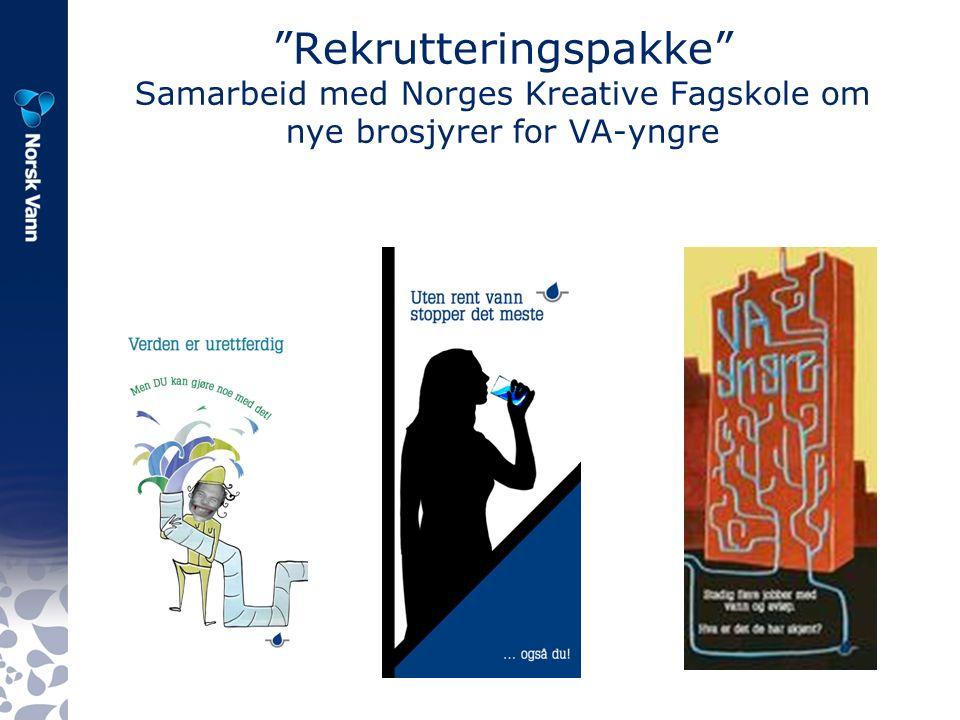 Rekrutteringspakke Samarbeid med Norges Kreative Fagskole om nye brosjyrer for VA-yngre