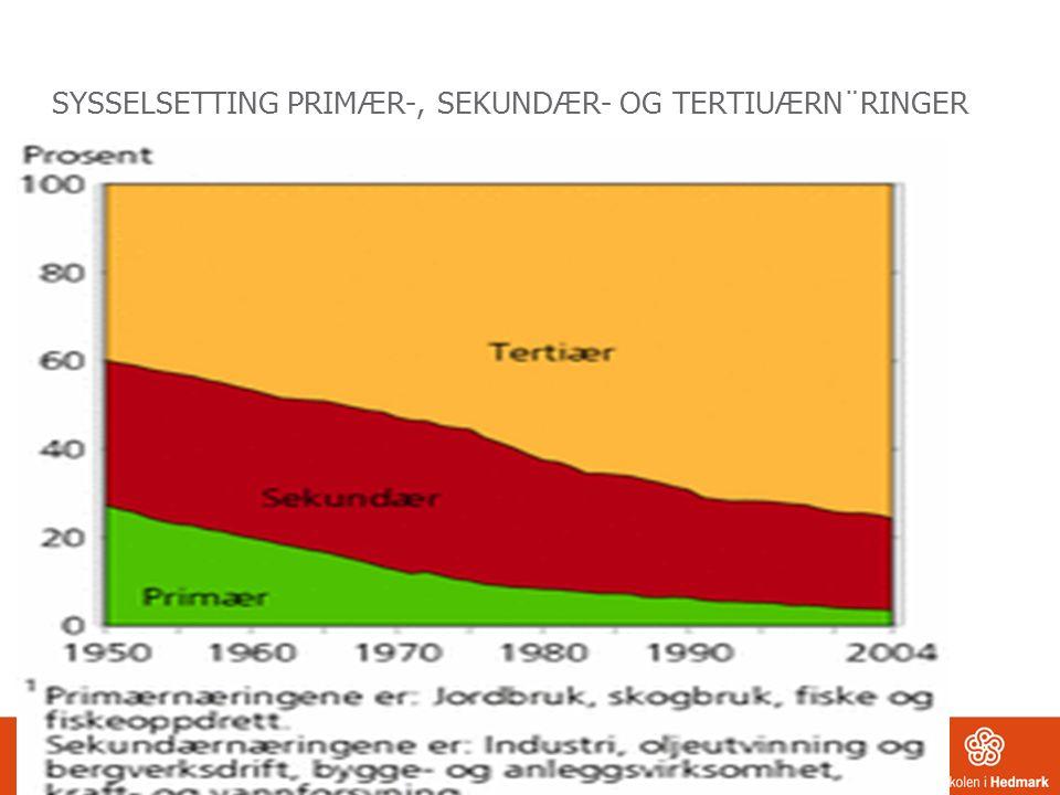 SYSSELSETTING PRIMÆR-, SEKUNDÆR- OG TERTIUÆRN¨RINGER REDIGERES I TOPP-/BUNNTEKST