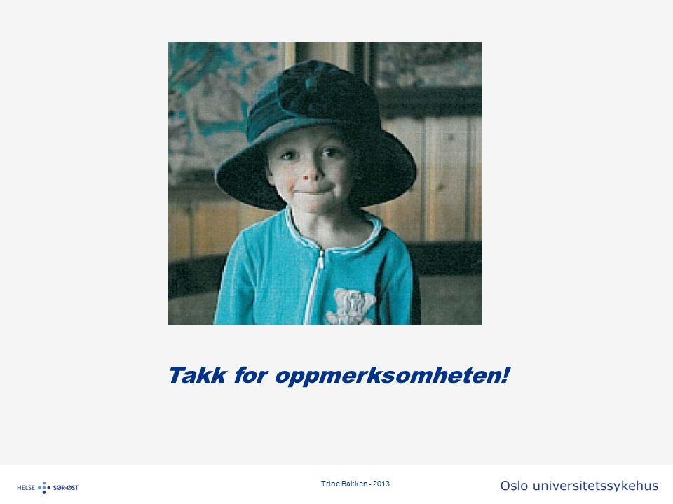Trine Bakken - 2013 Takk for oppmerksomheten!