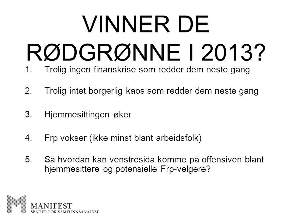 VINNER DE RØDGRØNNE I 2013.