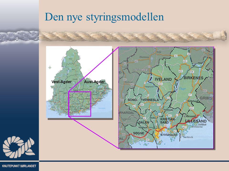 Den nye styringsmodellen Vest-AgderAust-Agder