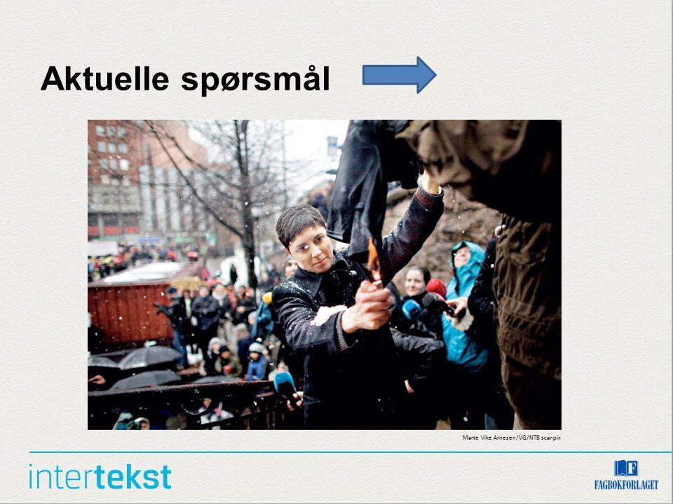 Aktuelle spørsmål Marte Vike Arnesen/VG/NTB scanpix
