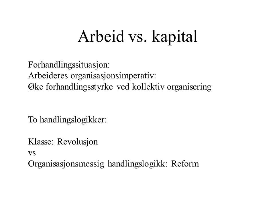 Arbeid vs.
