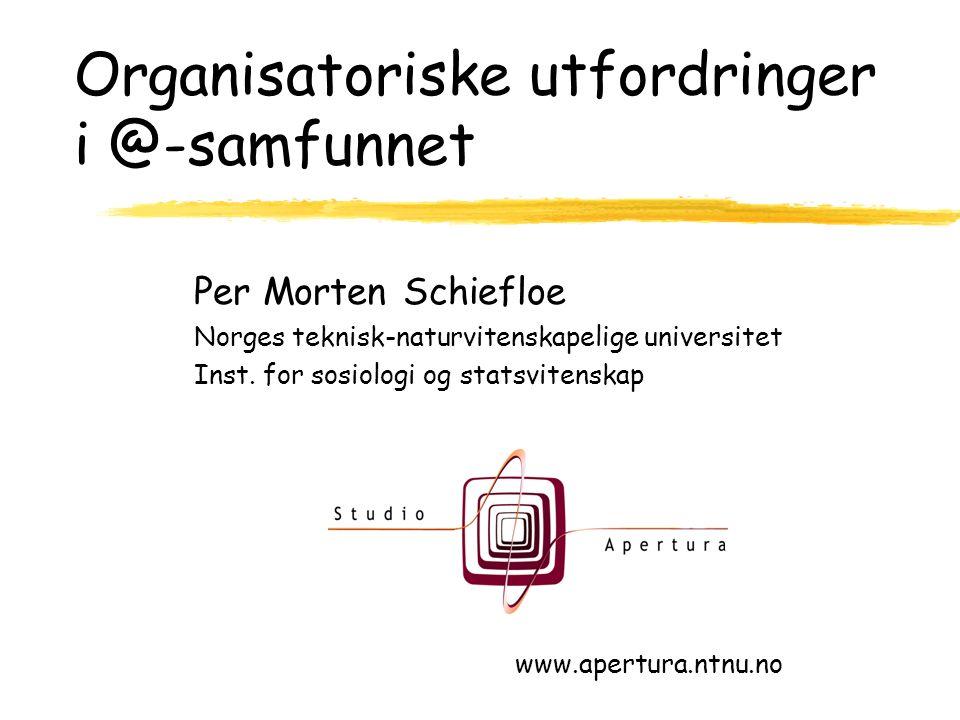 Per Morten Schiefloe Norges teknisk-naturvitenskapelige universitet Inst.