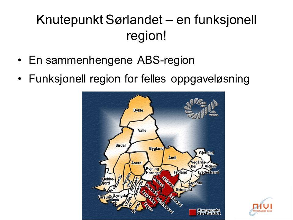 Knutepunkt Sørlandet – en funksjonell region.