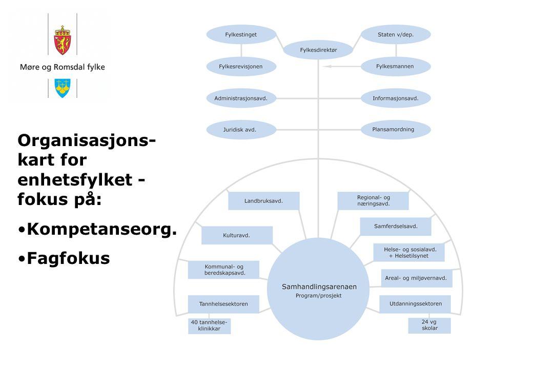 Organisasjons- kart for enhetsfylket - fokus på: Kompetanseorg. Fagfokus