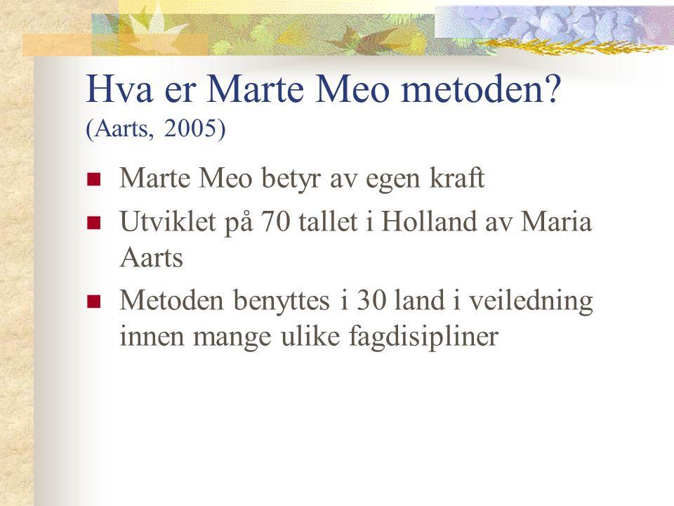 Hva er Marte Meo metoden.