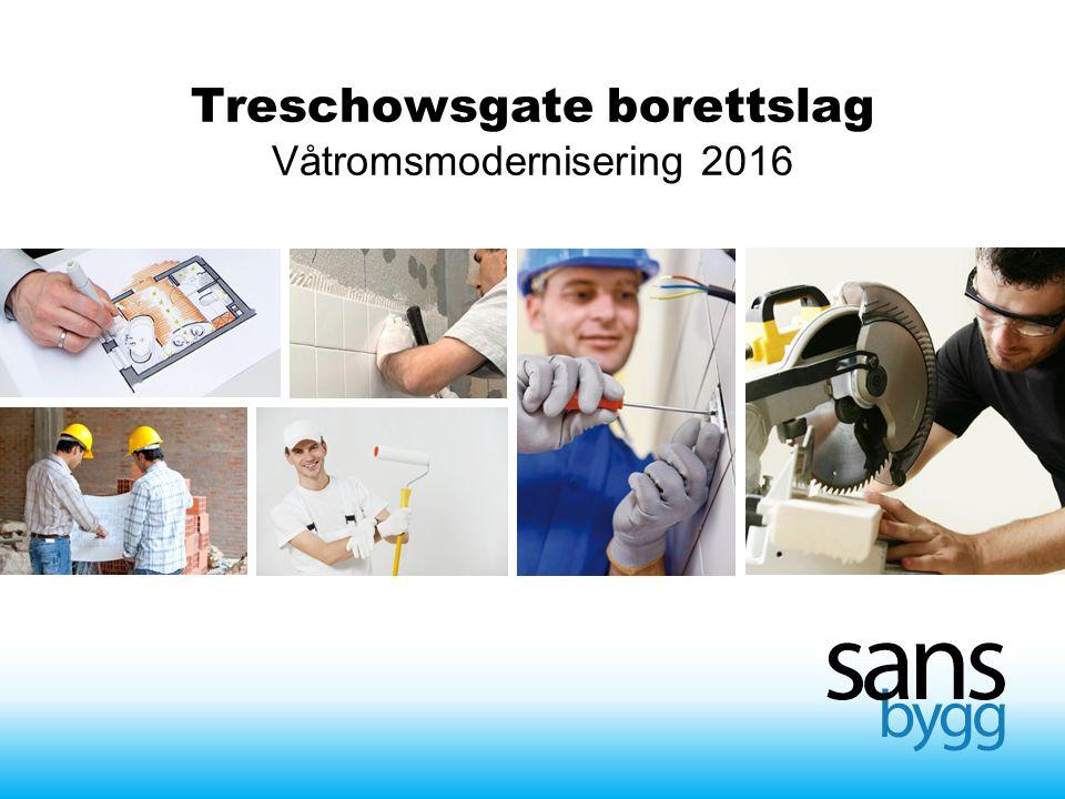 Treschowsgate borettslag Våtromsmodernisering 2016