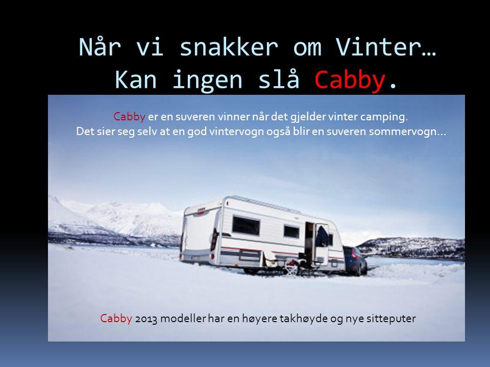 Når vi snakker om Vinter… Kan ingen slå Cabby.