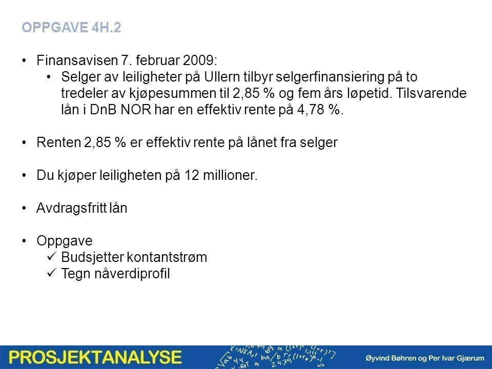 OPPGAVE 4H.2 Finansavisen 7.