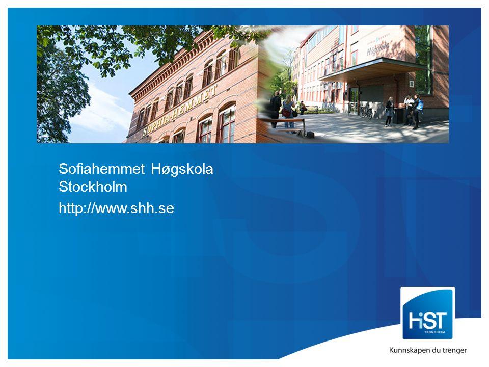 Sofiahemmet Høgskola Stockholm http://www.shh.se