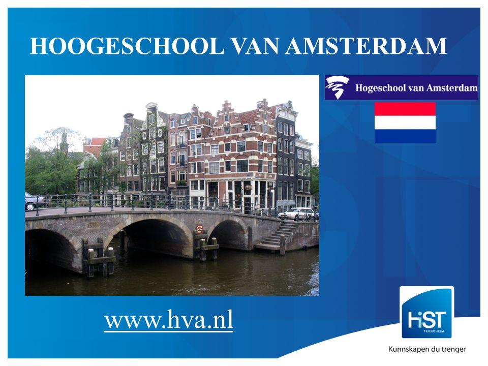 HOOGESCHOOL VAN AMSTERDAM www.hva.nl