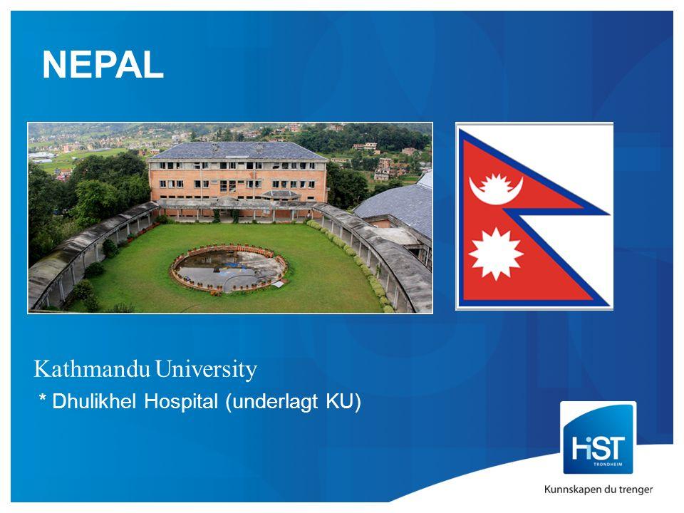 NEPAL Kathmandu University * Dhulikhel Hospital (underlagt KU)