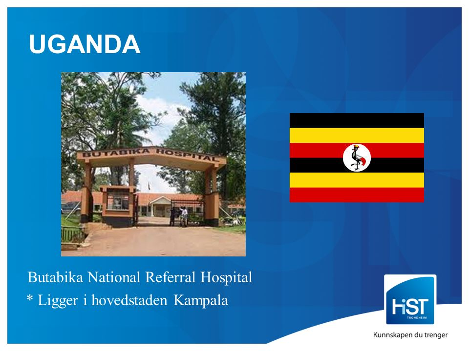 UGANDA Butabika National Referral Hospital * Ligger i hovedstaden Kampala