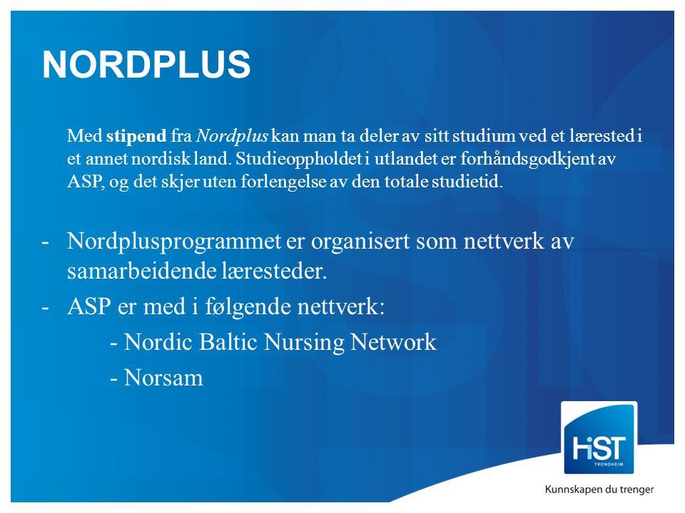 NORDPLUS Med stipend fra Nordplus kan man ta deler av sitt studium ved et lærested i et annet nordisk land.