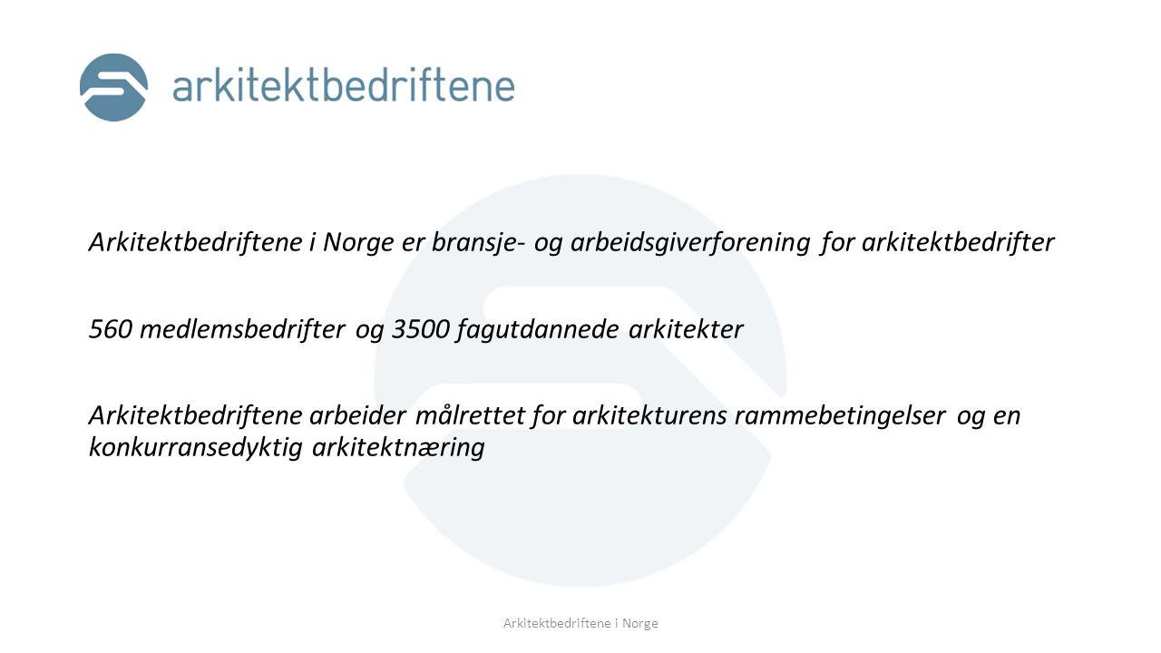 Arkitektkontoret Organisering Eierformer Livssyklus Endringstrekk Eieres ansvar Ansattes ansvar Daglig drift og beslutningsprosesser Kommunikasjon Arkitektbedriftene i Norge