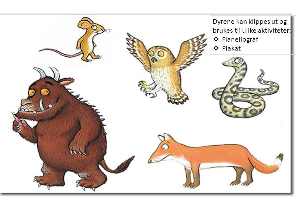 YENE Dyrene kan klippes ut og brukes til ulike aktiviteter:  Flanellograf  Plakat