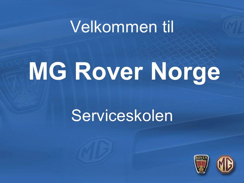 Velkommen til MG Rover Norge Serviceskolen