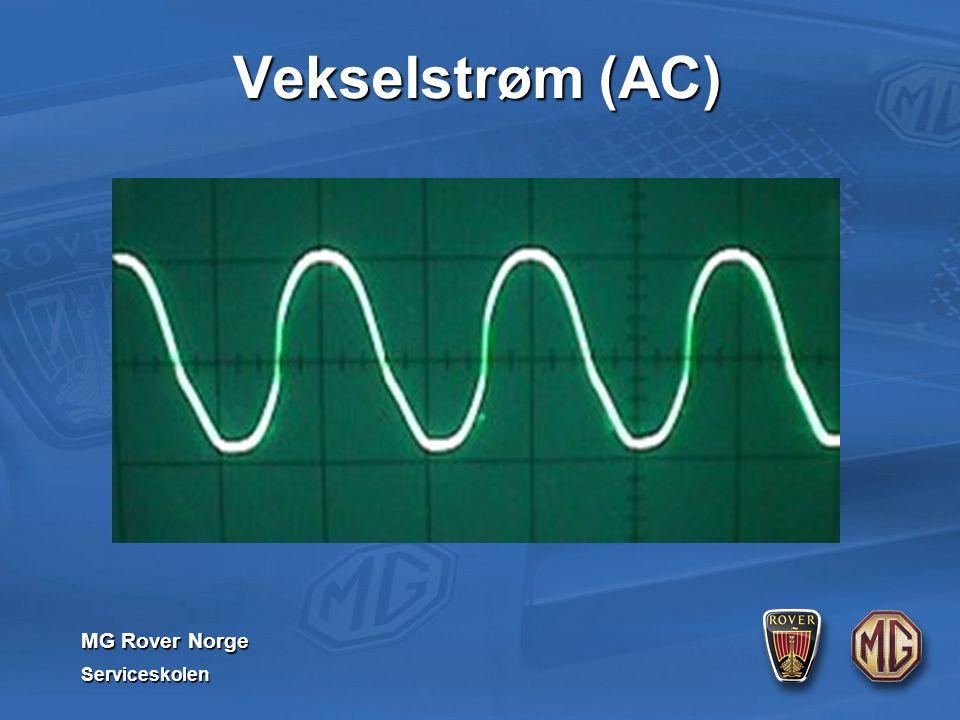 MG Rover Norge Serviceskolen Vekselstrøm (AC)