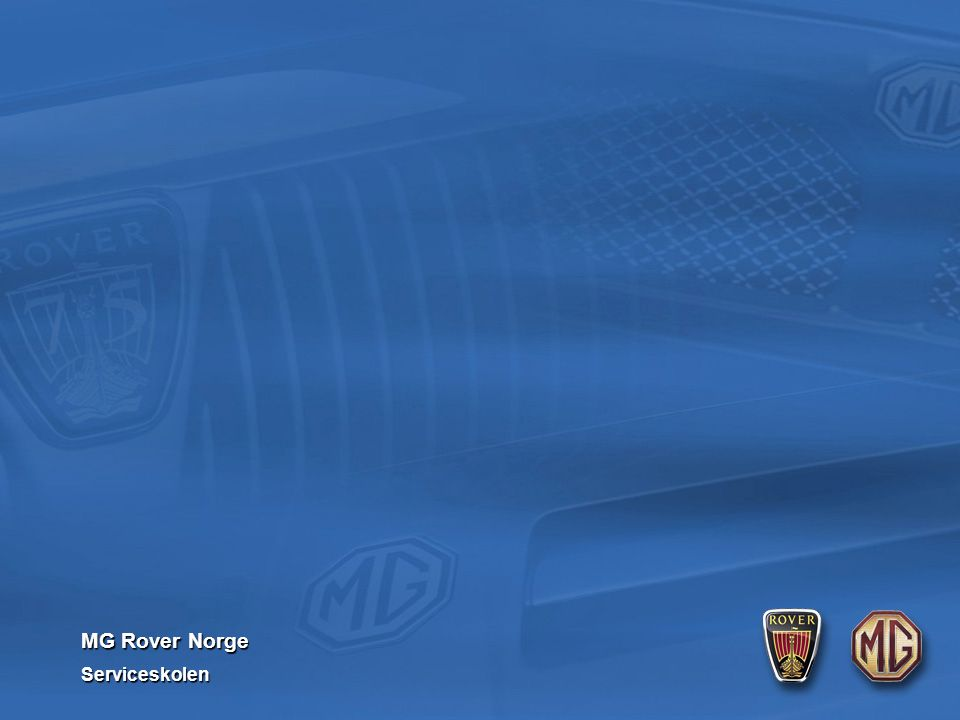 MG Rover Norge Serviceskolen