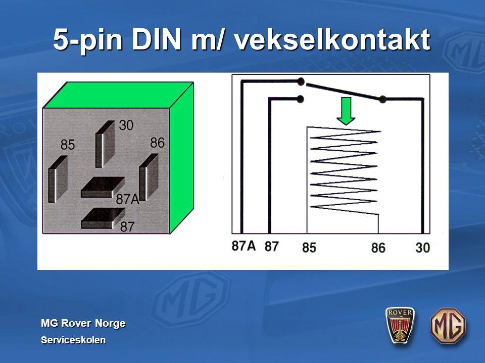 MG Rover Norge Serviceskolen 5-pin DIN m/ vekselkontakt
