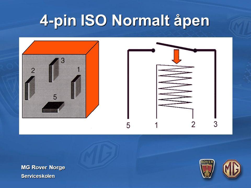 MG Rover Norge Serviceskolen 4-pin ISO Normalt åpen