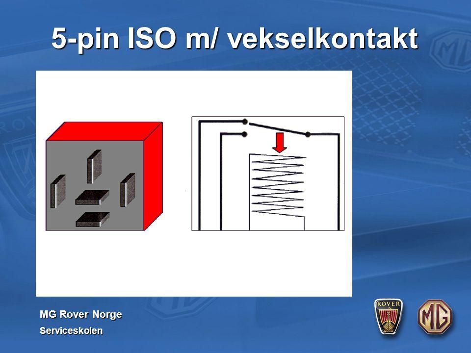 MG Rover Norge Serviceskolen 5-pin ISO m/ vekselkontakt