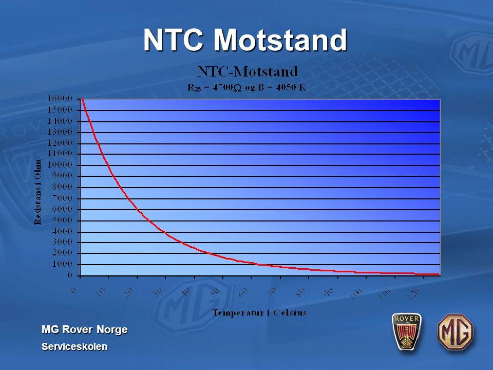 MG Rover Norge Serviceskolen NTC Motstand